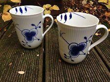 ROYAL COPENHAGEN Mega Blau Gerippt / Mega Blue -  2 Kaffeebecher 33cl