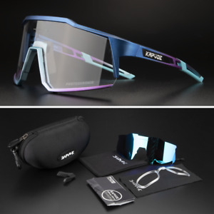 Photochromic Cycling Sunglasses UV400 Bicycle Glasses Sports Bike Eyewear