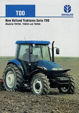 Prospekt New Holland TDD Traktoren 6/02 2002 Traktor TD75D TD85D TD95D brochure