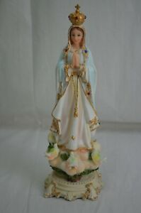 Our Lady Of Fatima Catholic Statues 13in Resin Virgin Mary Figurines Decor