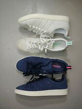 Adidas Campus Originals Sz 8.5 Blue Pink White mint Skate Shoes Leather lot of 2