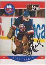 Autographed 90/91 Pro Set Glen Healy - Islanders