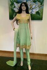 "38"" Teenage Girls Salwar Kameez Indian Elegant Kids Bollywood Pistachio Green"