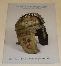 Catalogue de Ventes Vincent WAPLER Juin 2006 : Bijoux - Tableaux - Archéologie..