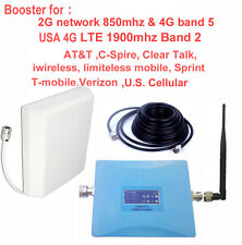 USA 2G&4G booster 850mhz+1900mhz AT&T Sprint Verizon Tmobile 4G signal repeater