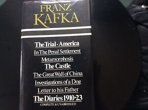FRANZ KAFKA: COMPLETE WORKS & DIARY 1919-23 BOOK ( 1976 EDITION)