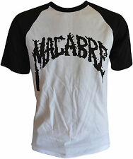 MACABRE - White/Black T-shirt - Black Logo - T-Shirt M / Medium (h3) 162751