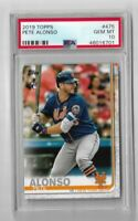 2019 topps update baseball #475 Pete Alonso Flagship Rookie PSA 10