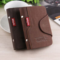 Men's Luxury Soft Leather Business ID Credit Card Holder Felt Wallet Purse Case