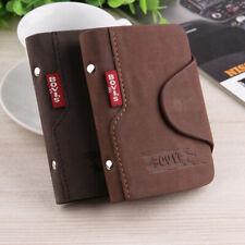 Men's Luxury Soft Leather Business ID Credit Card Holder Felt Wallet Purse Case