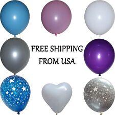 "6, 10, 20, 50, 100 12"" Latex Balloons Plain Colors, Heart and Custom Star Design"