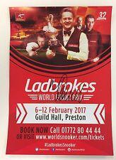 Snooker ladbrokes world grand prix flyer 2017. signé par john mcdonald.
