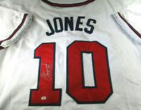 CHIPPER JONES / MLB HALL OF FAME / AUTOGRAPHED ATLANTA BRAVES CUSTOM JERSEY COA