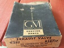 1939 CHEVROLET NOS GM GENUINE PARTS EXHAUST VALVES BOX OF (6) 0.297 838717