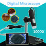 1000X 8 LED 2MP USB DIGITALE MICROSCOPE ENDOSCOPE MAGNIFIER CAMERA + LIFT STAND