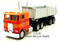 Peterbilt COE Tandem Axle Semi w/26' Gravel Trailer 1/87 HO Scale Promotex 6527