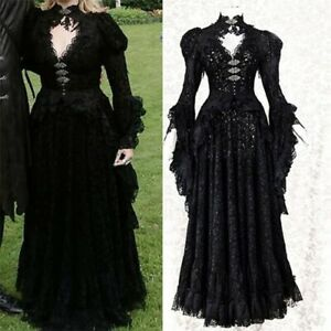 Medieval Noble Cosplay Halloween Female Cosplay Costume Masquerade Women Dress