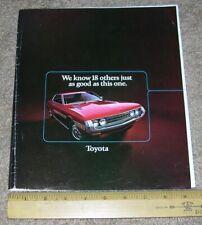 1972 TOYOTA Full Line Car Truck Dealer Sales Brochure Catalog CROWN LAND CRUISE