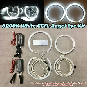 Xenon White 6000K CCFL Angel Eye Halo Ring Kit For 00-03 E46 Coupe NO Projector