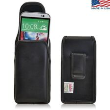 Turtleback HTC One M8 Vertical Leather Pouch Holster Case with Flush Belt Clip