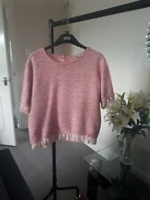 Gorgeous River Island top/Jumper Pink Size 12