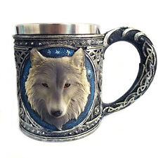 Wolf Head Floral Decor Pattern Halloween Goblet Cool Drinkware Cup Mug 4576HC
