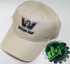 western star semi trucker hat ball cap truck adjustable back diesel gear tan