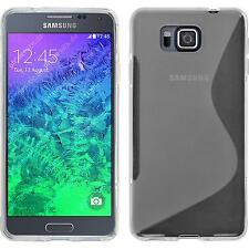 Silicone Case for Samsung Galaxy Alpha S-Style transparent + protective foils