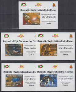 B459. Burundi - MNH - Space - Mars Curiosity - Deluxe