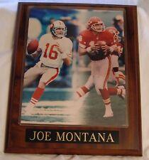 JOE MONTANA Limted Edition Sports Collectibles Vintage Sports Plaque  49ERS & KC