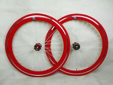 red Single Speed wheel wheels wheelsets Fixed Fixie 700c flip-flop hub D