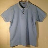 Vintage Patagonia Men's Short Sleeve Cotton Polo Shirt Size L Large Baby Blue
