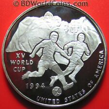 1992 UGANDA 10000 SHILLINGS SILVER PROOF 1994 US WORLD CUP SOCCER MOUNT RUSHMORE