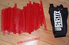 I-Stix Pack of 100 Red I Stix with Uberstix bag Construction Building Toy
