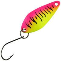 Trout Bait Blinker Micro Atom 42 Pink Neon Stripes UV Raubfischblinker Forelle