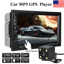 7'' 2 Din in Dash Touch Head Unit HD Car MP5 Player GPS Stereo Radio RC + Camera