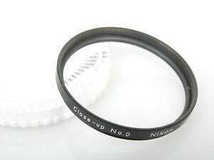 Nikon Close-up No. 0, 52mm Nahlinse in ausgez. Zustand + Nikon Dose MINT + Plexi