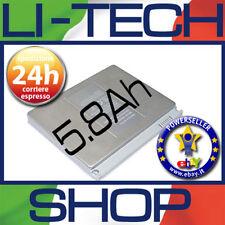 Batteria 5800mAh per APPLE MACBOOK PRO 4.1 15.4 POLLICI 2008 MB133LLA NUOVA 64Wh