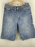 O'Neill Men's Casual Zip Close Denim Shorts Size 30 Blue