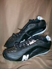 NEW BALANCE 991 MENS SIZE 14 FOOTBALL CLEATS SHOES BLACK SILVER