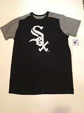 Majestic Chicago White Sox Logo Mens XL Distressed Black/Gray T-Shirt