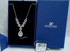 Swarovski Adore Necklace, Rhodium-Plated Clear Crystal MIB - 5043651