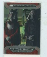 TOPPS STAR WARS CHROME JEDI vs SITH REFRACTOR #36-j THE TRADE FEDERATION