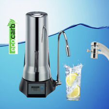 ECO CARB COUNTER TOP FLUORIDE WATER FILTER PURIFIER CHROME + FREE SHIP **