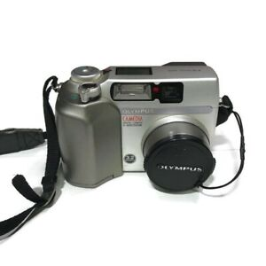 Olympus Camedia C-3020 3.2MP Digital Camera W/ Memory Card WORKS TESTED