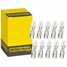 10x BREHMA T5 W2x4.6d 24V 2W Glassockellampe Glühbirne Glühlampe