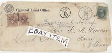 1881 Austin Texas GENERAL LAND OFFICE Postmark DENISON &HOUSTON RPO Postal Cover