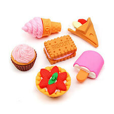 Back to School Food Rubber Pencil Eraser Set Novelty Kids Stationery Gift Sell