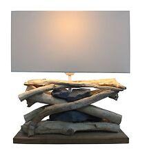 Bois flotté Lampe Lampadaire Baltic Sea (clair) avec pierres, GI Design Lampe Neuf