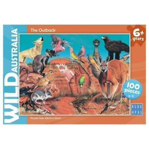 Blue Opal Wild Australia The Outback Jigsaw Puzzle 100 pieces Animals Game NEW